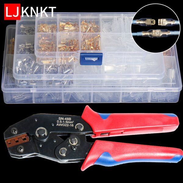 2.8/4.8/6.3mm crimping connection hand tool universal Spring Plug Wire Assortment