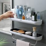 Oval Adhesive Bathroom Shelf