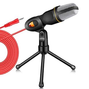 Condenser Microphone Stereo Tripod for PC YouTube