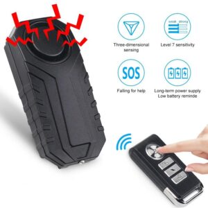 Control Motorcycle Bicycle Security Bike Anti-Theft Alarm
