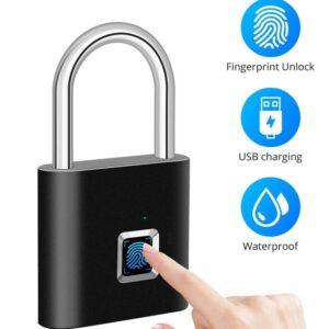 Fingerprint Padlock Compact Rechargeable