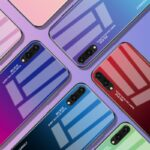 Gradient Color Tempered Glass Case for Huawei
